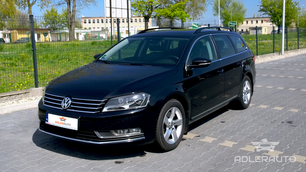 vw passat b7 kombi bluemotion czarny samochody osobowe. Black Bedroom Furniture Sets. Home Design Ideas